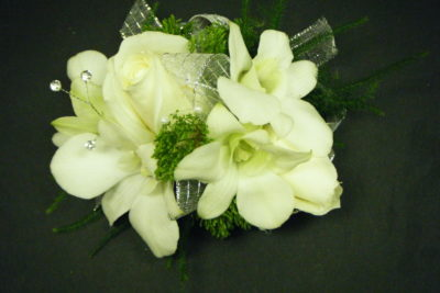 All white corsages artistic flowers portland all white corsages mightylinksfo