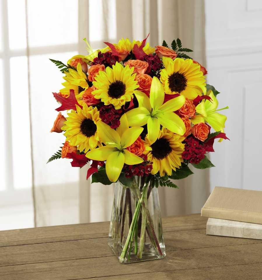 Sunflower Fall Bouquet Artistic Flowers Portland